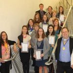 Glen Oaks students inducted into Phi Theta Kappa; Chapter leads national average in membership percentage