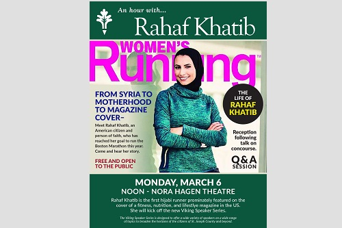 Rahaf Khatib featured on the cover of a fitness, nutrition and lifestyle magazine.