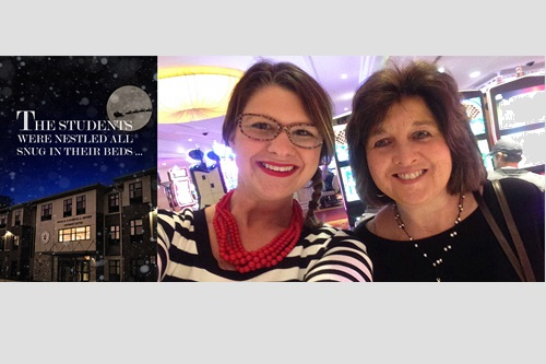 Holiday Card, Lauren Sterling and Val Juergens