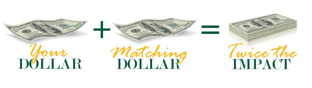 Your dollar plus matching dollar equals twice the imact