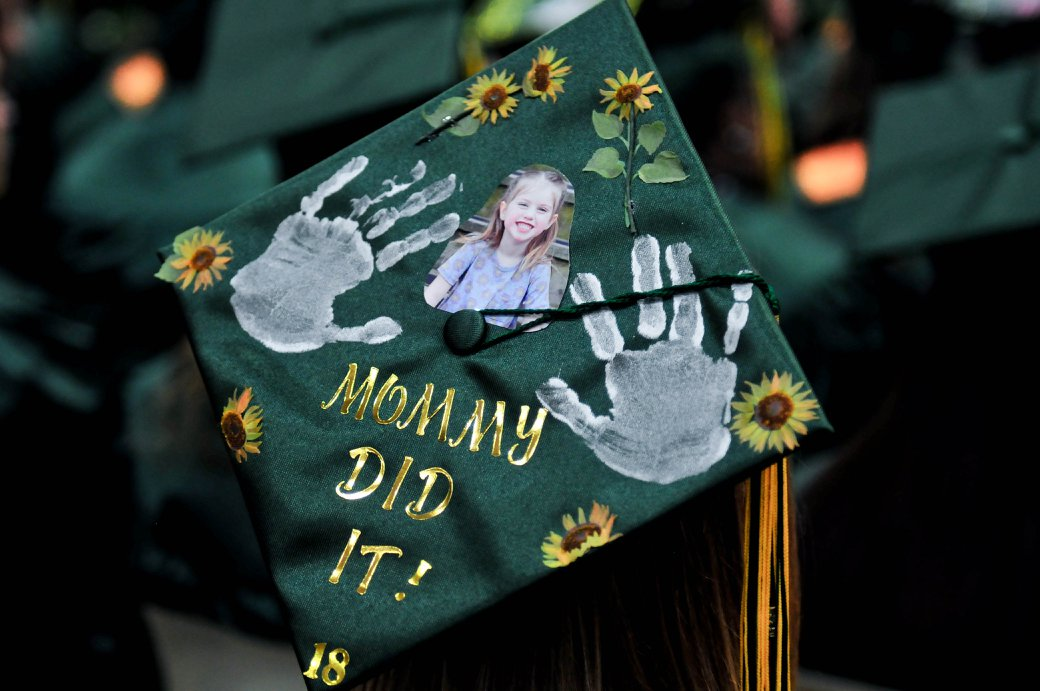"Decorated graduation cap - ""Mommy Did It!"""