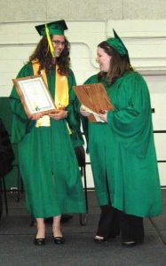 Lydia Bungart and Michelle Romeo receiving 2010 President's Award.