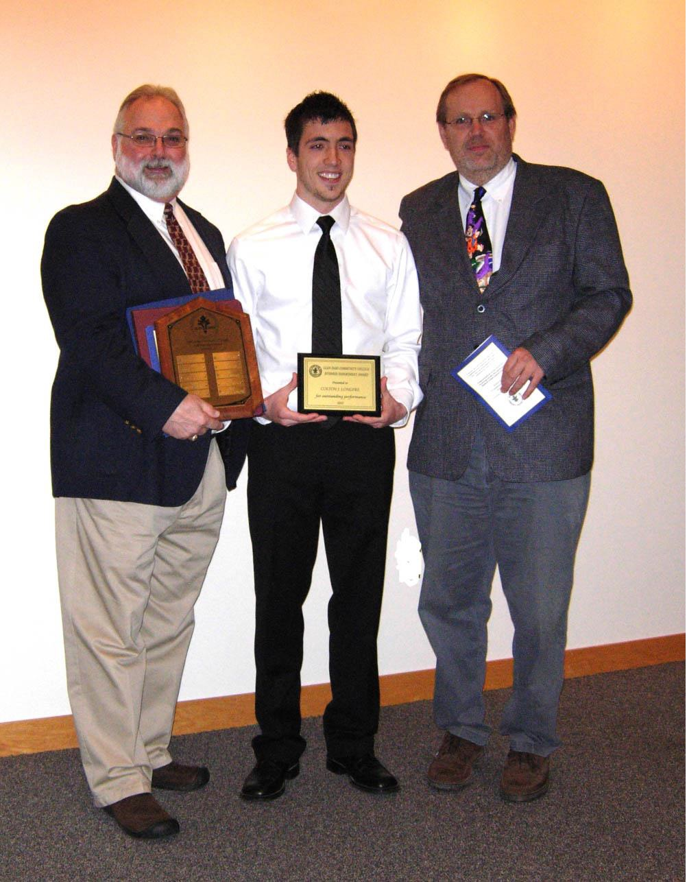 Bill Furr, Colton Longpre, and Dr. Lester Keith