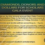 "Glen Oaks Foundation to host Second Annual Gala ""Diamonds, Donors and Dollars for Scholars"" – Fri., Oct. 7"