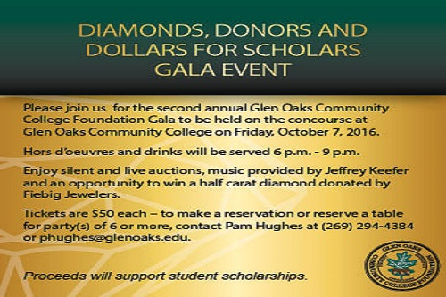 Join us for the 2016 Diamonds, Donors and Dollars for Scholars Gala