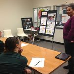CTE graphic design students present projects to panel