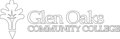 Glen Oaks Community College oak leaf nameplate icon (bordered)