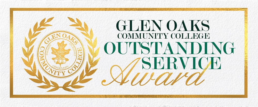 Glen Oaks Community College Outstanding Service Award