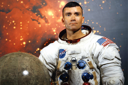 Fred Haise in astronaut gear