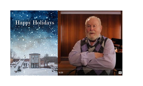 2018 Holiday Card and YouTube thumbnail of Norm Haas