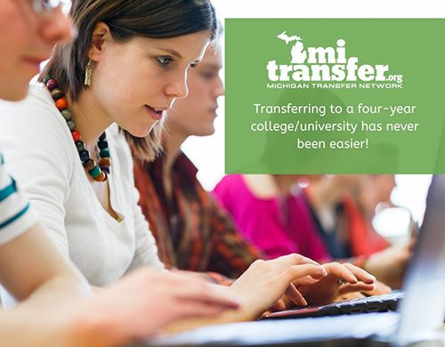 MI Transfer poster with girl on computer