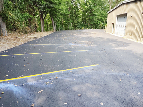 New north campus parking lot