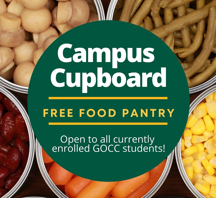 Campus Cupboard Free Food Pantry - Open to all currently enrolled GOCC students!