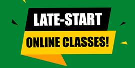 Late start online classes