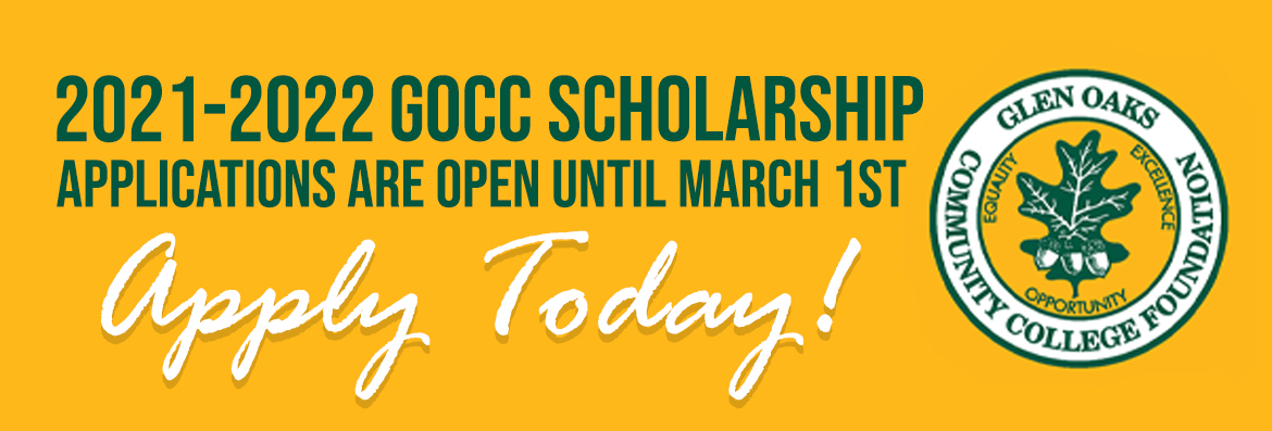 21-22 GOCC Scholarship applications are open until March 1st. Apply today.