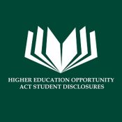 Higher Education Opportunity Act Student Disclosures